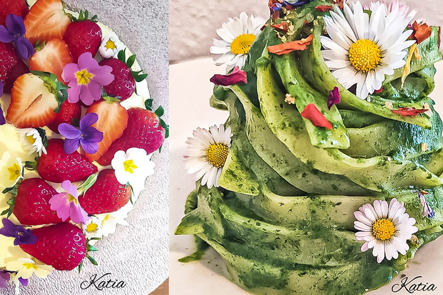 KATIA AND THE MAGIC OF FLOWERS IN THE KITCHEN