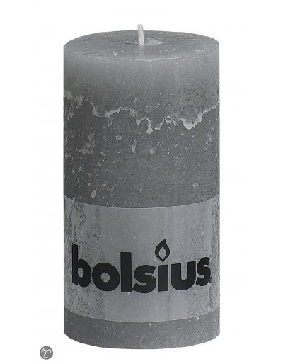 Rustic gray candle