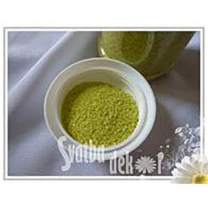COLORED SAND 0.1-0.5MM APPLE GREEN FLAT BAG 500G